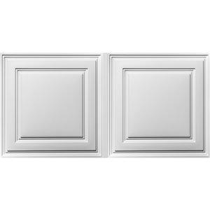 Tuiles de plafond suspendu Ceilume Stratford Feather-Light, 48 po x 24 po, blanc, paquet de 30