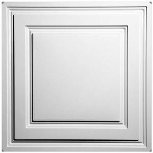 Tuiles de plafond suspendu Ceilume Stratford Feather-Light, 24 po x 24 po, blanc, paquet de 40