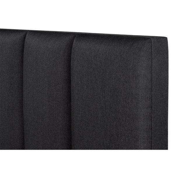 5 Brother's Upholstery Celine King Platform Bed - Dark Grey Linen