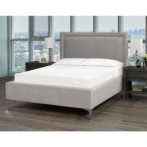 5 Brother's Upholstery Alto King Platform Bed - Grey Velvet