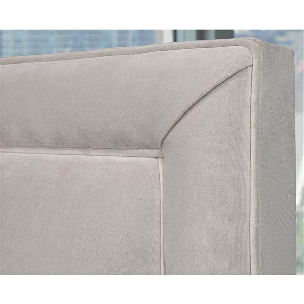 5 Brother's Upholstery Alto Full Platform Bed - Grey Velvet
