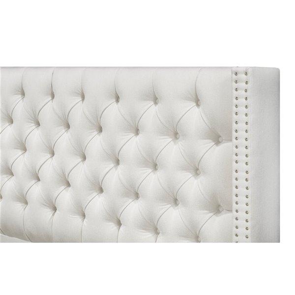 5 Brother's Upholstery Santa Fe Full Platform Bed - Ivory