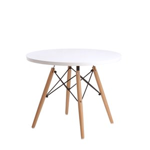 Plata Import Eiffel Dining Table - 36-in - White