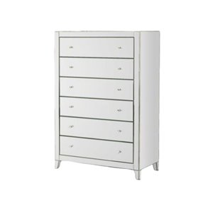 Plata Import Meiry Modern Mirror Dresser - 20-in x 57-in - Gray/Silver