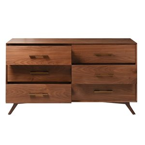 Plata Import Kinai Modern Wood Dresser - 20-in x 36-in - Brown