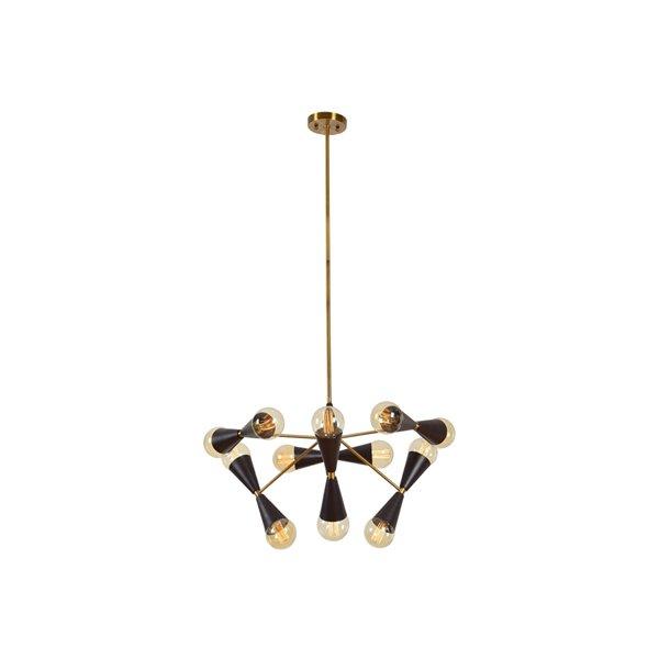 Plata Import Damas Elegant Chandelier - Gold/Black