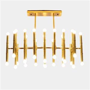 Plata Import Crown Chandelier - Gold
