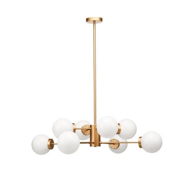 Plata Import Yao Chandelier - Gold/White