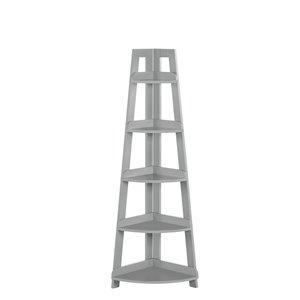 RiverRidge Home Kids 5-Tier Corner Ladder Shelf - Grey