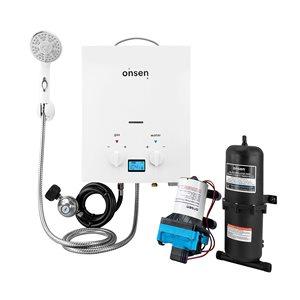 Onsen 5-L Portable Tankless Water Heater - Pump 3-gal./min - 1-L Accumulator