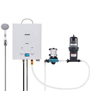 Chauffe-eau portatif Onsen 5 L, pompe 3 gal/min, accumulateur 1 L