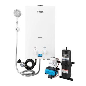 Onsen 10-L Portable Tankless Water Heater - Pump 3 gal./min - 1-L Accumulator