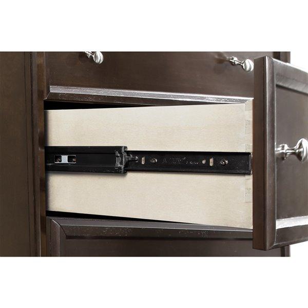 Domus Vita Design Belmont 5-Drawer High Chest - Brown