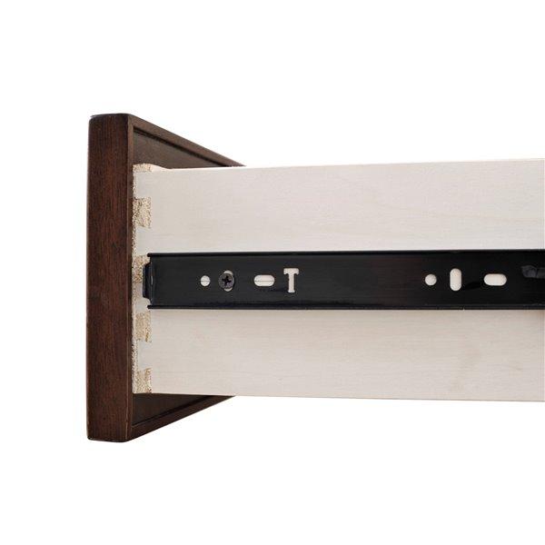 Domus Vita Design Princeton 1-Drawer Nighstand - Tobacco