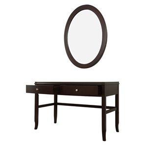 Domus Vita Design Abigail 2-Drawer Vanity Table with Mirror