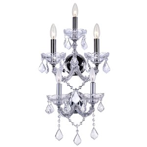 CWI Lighting Maria Theresa Traditional Wall Sconce - 5-Light - Chrome