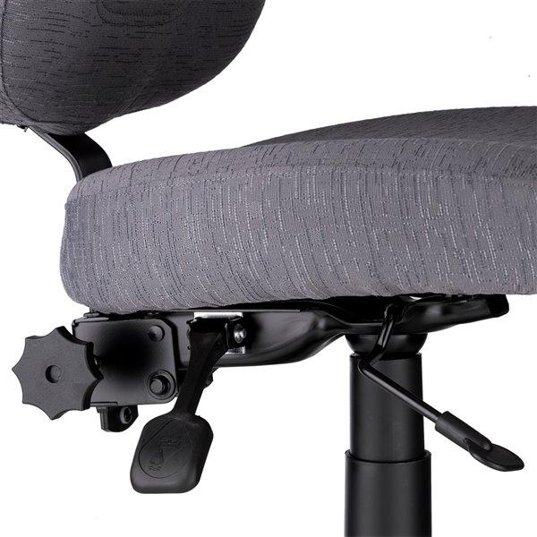 Chaise de couture SewErgo de Reliable, hauteur ajustable, noir