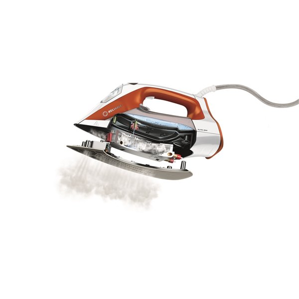 Reliable Velocity Compact Steam Iron - White/Orange