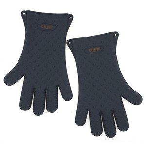 MR.BAR-B-Q  Premium Silicone Gloves- 2 Pieces - Black