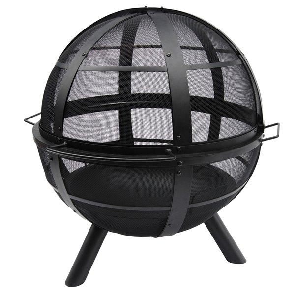 Ball O' Fire Landmann Steel Fire Pit - 30-in - Black