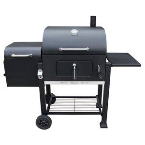 Vista Landmann Charcoal Grill with Offset Smoker - Black