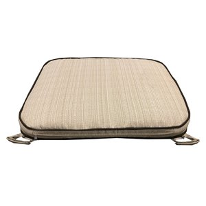 16 x 20 Outdoor Patio Dining Chair Cushion in Off-White with Velcro