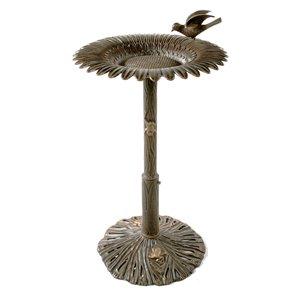 Oakland Living Sunflower Bird Bath - Antique Bronze