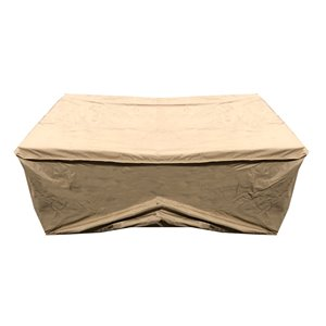 Oakland Living Rectangular Fire Table/Coffee Table Cover - 52-in - Beige
