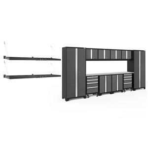 Armoire Bold Series de New Age Products, en acier, à 8 tiroirs, capacité de 5600 lb, ensemble de 12 morceaux, gris foncé