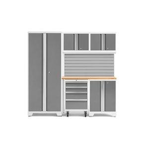 Armoire Bold Series de New Age Products, en acier, à 4 tiroirs, capacité de 2200 lb, ensemble de 6 morceaux, platine