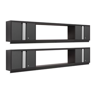 Armoire Bold Series de New Age Products, en acier, capacité de 1400 lb, ensemble de 6 morceaux, gris foncé
