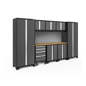 Armoire Bold Series de New Age Products, en acier, à 4 tiroirs, capacité de 3700 lb, ensemble de 9 morceaux, gris foncé