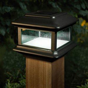 Luminaire solaire Colonial de Classy Caps pour poteau, DEL, aluminium noir