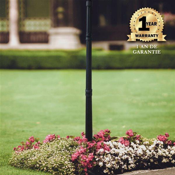 Classy Caps Contemporary Lamp Post Base - 60-in - Black Aluminum