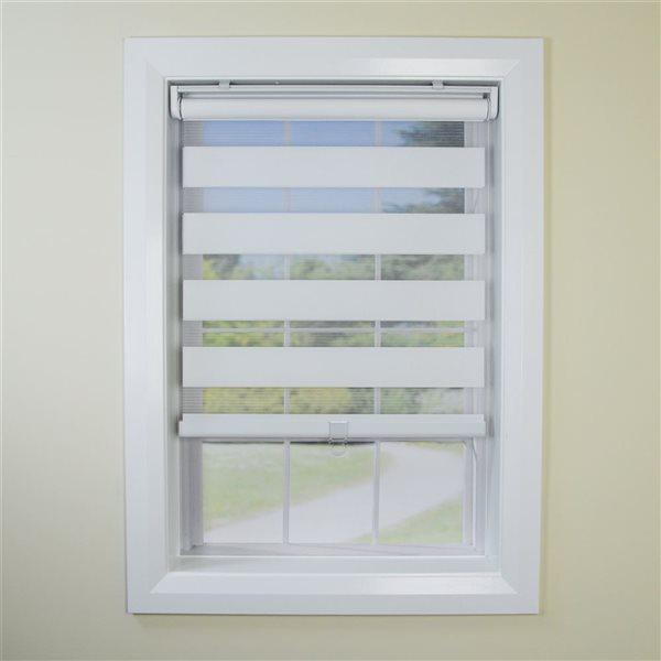 Toile alternée d'intimité sans cordon Slimline de Versailles Home Fashions, filtre d'éclairage, 48 po x 84 po, coquille d'œu