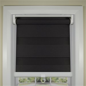 Toile alternée d'intimité sans cordon Slimline de Versailles Home Fashions, filtre d'éclairage, 27 po x 72 po, gris graphite