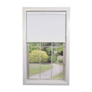 Toile alvéolaire d'intimité sans cordon de Versailles Home Fashions, filtre d'éclairage, 27 po x 72 po, blanc