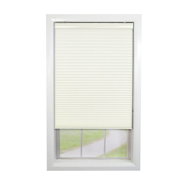 Versailles Home Fashions Cordless Honeycomb Cellular Shade - Light Filtering - 24-in x 72-in - Ivory