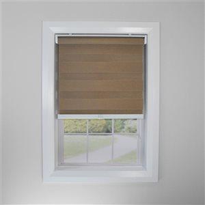 Toile alternée d'intimité sans cordon Slimline de Versailles Home Fashions, filtre d'éclairage, 24 po x 72 po, brun