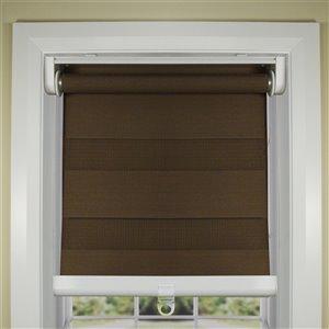 Toile alternée d'intimité sans cordon Slimline de Versailles Home Fashions, filtre d'éclairage, 36 po x 84 po, brun