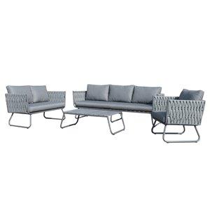 Ensemble sofa Stockholm de Starsong, 4 pièces, gris