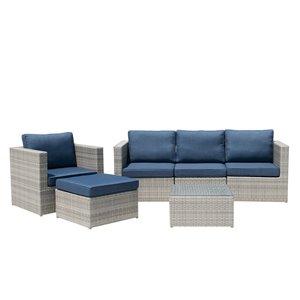 Starsong Dublin Sectional Seating - 6-Piece - Dark Blue