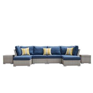 Ensemble modulaire pour patio Kavala de Starsong, 8 pièces, bleu denim