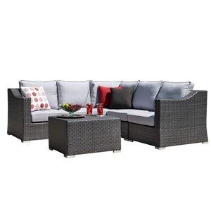 Starsong Kavala Patio Sectional Sofa - 6-Piece - Light Grey