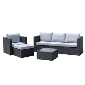 Starsong Dublin Patio Sofa Set - 6-Piece - Grey