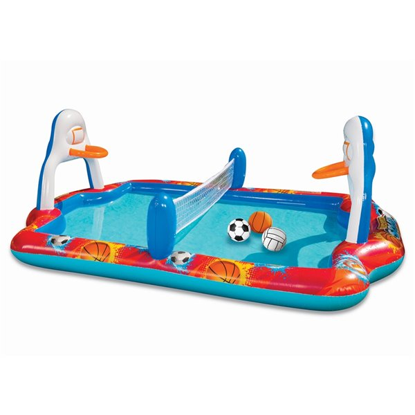 Banzai  Sports Arena 4-in-1 Splash Pool - 95-in x 66-in - Blue