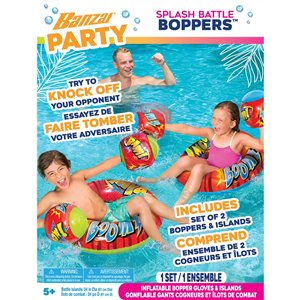 Jeu de piscine gonflable Splash Battle Boppers de Banzai
