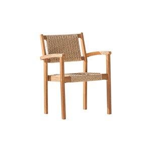 Chaise de patio Chesapeake de Vifah, en bois, brun, ensemble de 2
