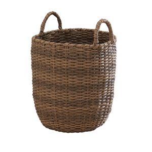 Vifah Lucia Storage and Organizing Basket with Handles - Round - Resin - 15-in