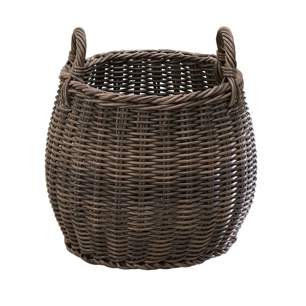 Vifah Valeria Plant Pot And Laundry Basket With Handles Round Resin 18 In V50020 L Rona